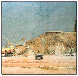 The open pit mine of the Kajaran combined enterprise