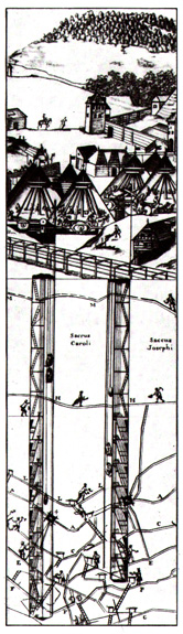 The mining works under Shemnitsev during the 1700