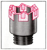 The drilling crown for the striking rotation