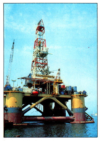 The floating drilling platforms of the semi-submersible type