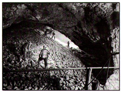 (Figure # 7) The chamber of the underground ore mine