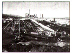 (Figure # 10) The open-pit mine named after Maurice Thorez