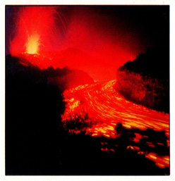 (Figure # 6) The flow of the lava